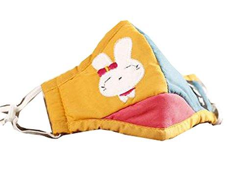 joli Le masque pour enfants pour l'anti-smog, lapin jaune(19.5*12 cm)