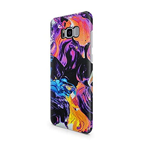 Colourful Paint Dashes Pattern Samsung Galaxy S8 PLUS SnapOn Hard Plastic Phone Protective Case Cover