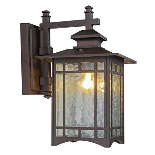 KAIASlink Außenwandleuchte Hof Außenleuchte wasserdichte Leuchten Außenbalkon Staub Villa Garten LED Außenbeleuchtung - 111 Nacht Staub