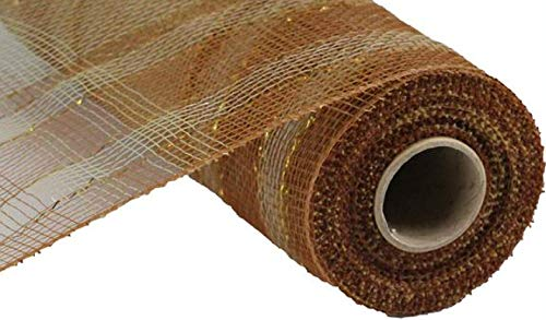 Deko-Polygitterband, 25,4 x 9 m, kariert, metallisch 10