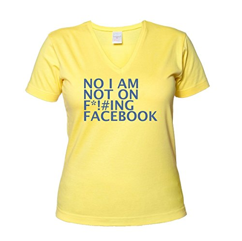 no-im-not-on-facebook-funny-grumpy-haters-womens-v-neck-t-shirt-xx-large