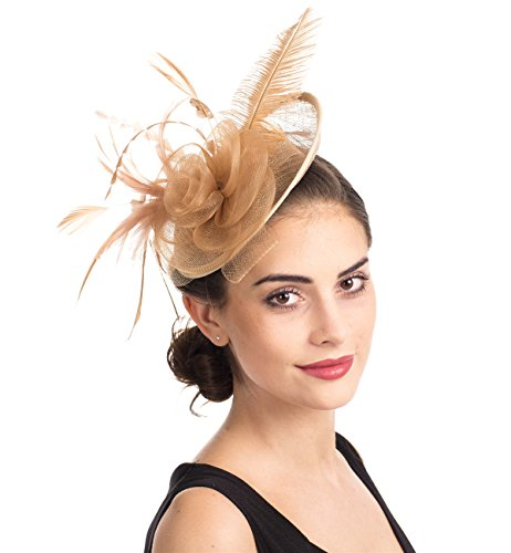 Sinamay Flower Feather Headband Fascinator Wedding Headwear Ladies Race Royal Ascot Pillbox Wedding Cocktail Tea Party Derby Hat For Women