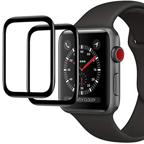 Ossky Protection Écran pour iWatch Series 5/4,44mm,[2 pièces] Film Protection Ecran, Anti-Rayures,sans Bulles, Haute Transparent Film Protecteur pour Apple Watch Series 5/4( 44mm )