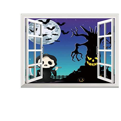 Halloween, Horroraufkleber, Zombie Look Wandtattoo Wanddurchbruch Wandbild Aufkleber, Heikle Aufkleber@B_s (Für Zombie-look Halloween)