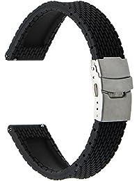TRUMIRR 18mm Quick Release Bracelet en caoutchouc silicone Bracelet sport pour Huawei Montre / Ajustement Honneur S1, Asus Zenwatch 2 Femmes WI502Q, Withings Activite / Steel / Pop, Autres Montres à queue de 18 mm