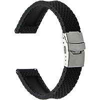 TRUMiRR 18 millimetri Quick Release Guarda gomma siliconica cinghia della fascia di sport per Huawei Watch / Fit Honor S1, Asus Zenwatch 2 donne WI502Q, Withings Activite / Acciaio / Pop, Altro 18 millimetri Orologi Lug