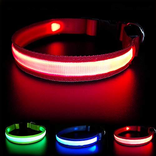 MASBRILL Collier de sécurité pour Chien Rechargeable LED Super Bright DC - Excellente visibilité et sécurité - Étanche