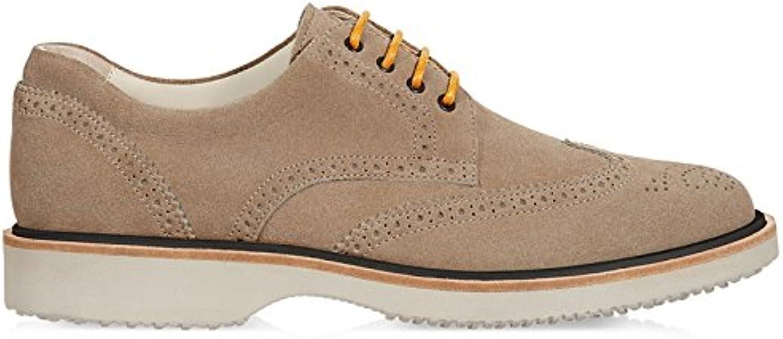 Hogan Hombre HXM2170M081D54C803 Beige Gamuza Zapatos De Cordones -
