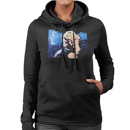 Sidney Maurer Original Portrait of Marilyn Monroe Blonde Bombshell Women's Hooded Sweatshirt