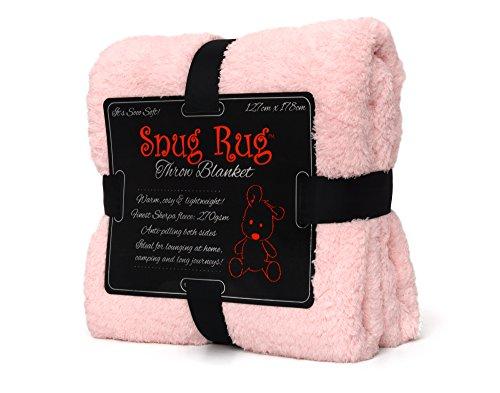 Snug-Rug Wohlfühldecke - Rosenquarz (Faux-pelz-luxus-werfen)