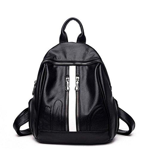 Y&F Rucksack Damen Rucksack Schulter Messenger Bag Schulranzen Schwarz 28 * 15 * 32 Cm C