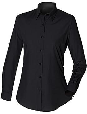 Premier- Camisa de manga larga entallada para mujer