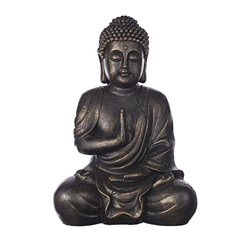 Buddha B4017 Bronze , für Innen und Außen