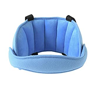 BAAQII Kids Children Car Seat Head Support Belt Neck Adjustable Safety Head Holder Sleep Pillow (Blue)