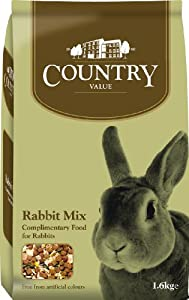 Country Value Complementary Rabbit Food 16 Kg Pack Of 4 by Burgess Pet Care