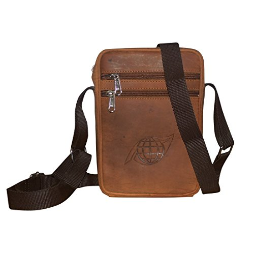 Style98 Unisex Tan Genuine Leather Travel Hard Disk Bags Pouch