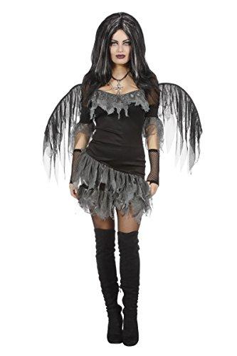 Kostüme Dämon Halloween (Damen Kostüm dunkler Engel Dämon Halloween Karneval)