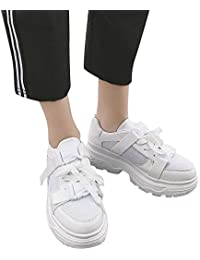 Elecenty scarpa da donna casual piatte comode da college stile sportivo  Scarpe sneakers estive eleganti donna scarpe… fb32653853d
