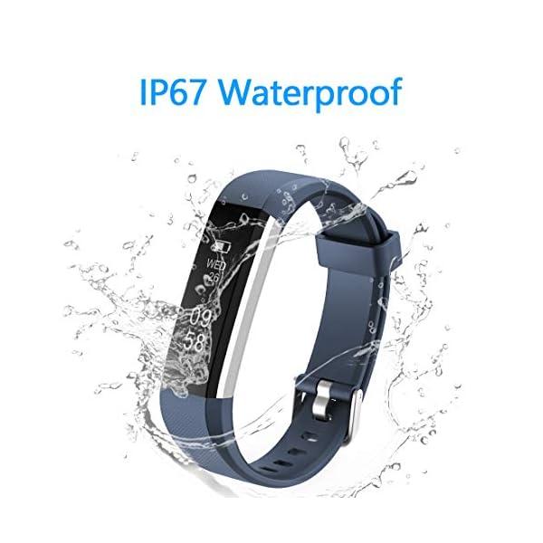 Yuanguo Pulsera de Actividad Inteligente Reloj Deportivo con Pulseras de Repuesto Podómetro Monitor de Sueño Pulsera… 7