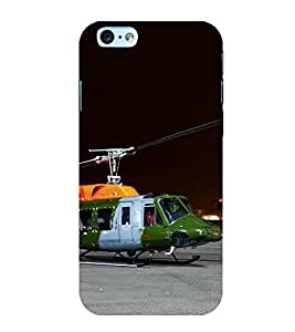 Iphone 6 Plus / 6S Plus Army Helicopter Printed Back Case Cover for Boys and Girls