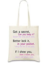 Got A Secret Can You Keep It 2 Slogan Bolso de mano