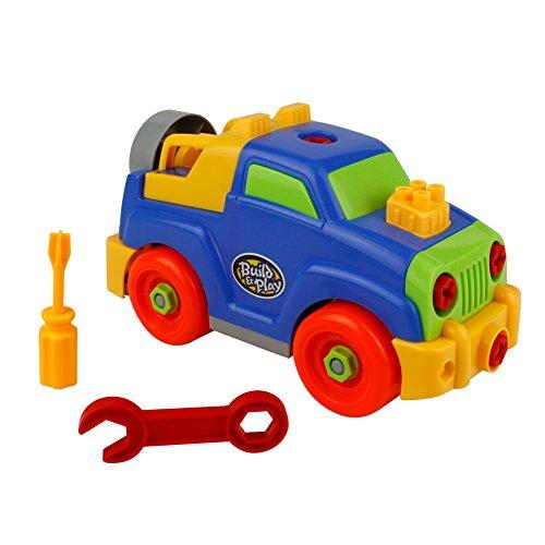 TONZE Macchina da Montare Jeep Assemblare Giocattoli Smontare Auto Giocattoli per Bambini 3 Anni