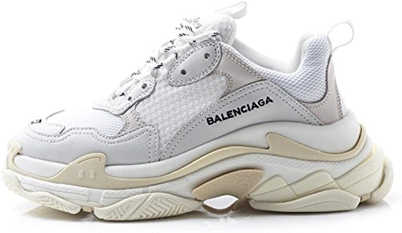 BestVIPQ Balenciaga Triple S Sneakers Cream White Unisex Herren Damen Balenciaga Laufschuhe Turnschuhe