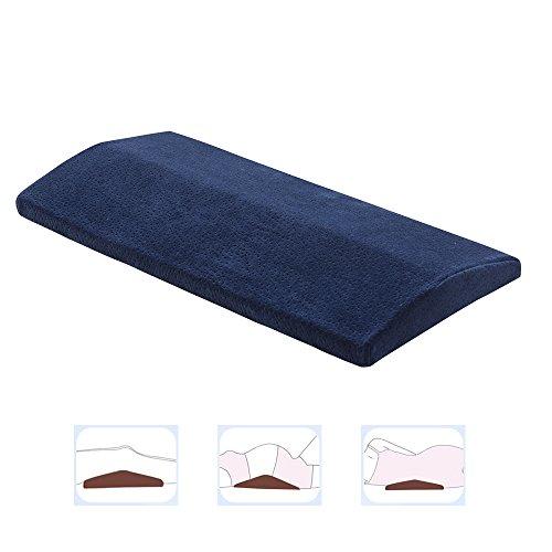 Lange Schlafkissen für unteren Rückenschmerzen, multifunktionale Memory-Foam-Bein-Kissen-Lendenunterstützungs-Keil-Kissen für schlafende Seite oder Rücken, orthopädische Taille Kissen für Ischias-Schwangerschaft-Hüfte und Gelenkschmerzen CompuClever Blau (Zurück-keil-kissen)