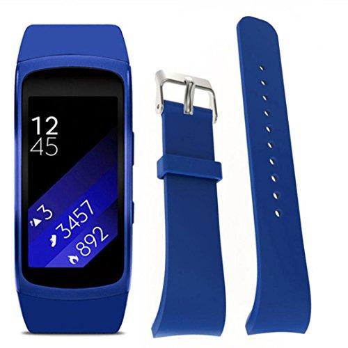 Watch Replacement Band Strap For Samsung Gear Fit 2 Pro Fitness, Hunpta Luxus Silikon Uhr Ersat Band Bügel (Dark Blau)