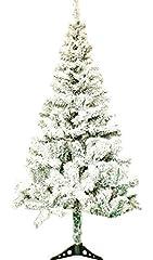 Idea Regalo - EOZY-Albero di Natale di Neve Slim Innevato Albero Artificiale con Supporto in Metallo Ornamento Bianco Altezza 60cm