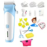 CTO Babyhaarschneider, Ultra-Leise, USB-Aufladung, Elektrisch, Wasserdicht, Babyhaarschneider,Blau,Haarpflege