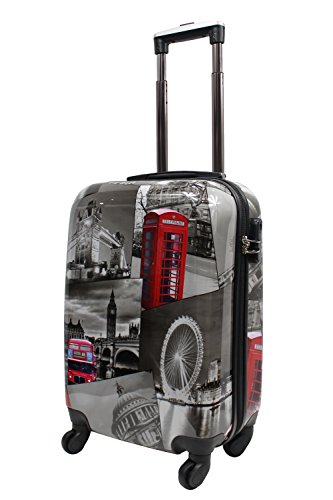 lightweight-4-wheel-hard-shell-pc-london-printed-luggage-suitcase-cabin-travel-bag-small-20-cabin-si