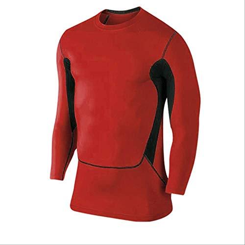 Kostüm Ironman Für Verkauf - NUASH Training Fußball Jersey Weste Compression Fitness T-Shirt Enges Kostüm Dünne Sportanzug Herren Long Shirts XXL Rot