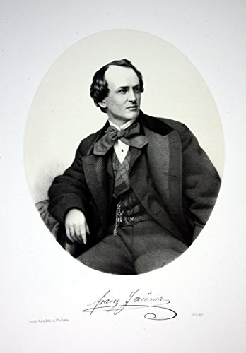 Franz von Jauner Schauspieler Direktor Theater Wien Portrait Lithographie Litho