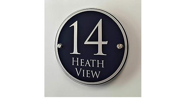 Plaque personnalis/ée pour maison num/éro de porte plaque dadresse maison moderne # C22