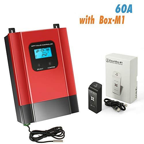 40 A/60 A Solar-Laderegler 12 V 24 V 36 V 48 V Batterie Lade-Entladungsregler mit LCD-Display Max 150 V DC Eingang 60A(With WIFI BOX-M1) Ladung 24v-system
