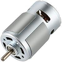Motor de alta velocidad, 775 DC 12V-24V 3500-9000rpm eléctrico bola motor de alta potencia Teniendo par grande de bajo ruido del motor, para bricolaje juguete de la manía de los coches teledirigidos