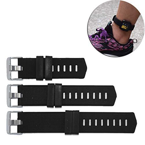 DDJOY Verlängerungsband für Fitbit Versa/Charge/Charge HR/Charge 2 Uhrenarmband, Silikonband-Erweiterung für extra große Handgelenk- oder Fußgelenk-Verschleiß (schwarz)