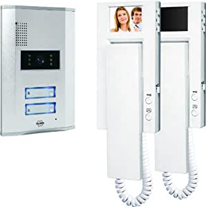 Elro VD62 2-Familien-Videotürsprechanlage mit 2.4 Zoll (5.5 cm) TFT Farbmonitoren