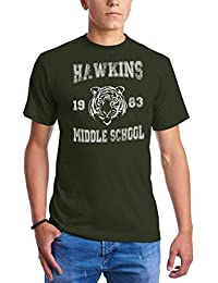 CHILLTEE Stranger Things Hawkins Middle School Will Eleven Dustin Lucas Barb Camisetas para Hombre