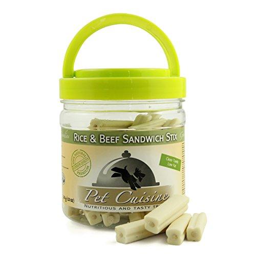 Pet Cuisine Hundesnacks Hundeleckerli Kausnacks, Rind & Reis Dental Sticks, 340g