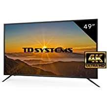 Televisores Led 49 Pulgadas 4K Ultra Hd TD Systems Resolución 3840x2160 HDMI 3 VGA 1 USB Repoductor y Grabador Tv Led