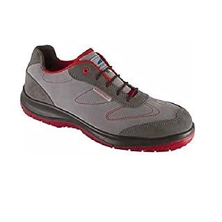 Aboutblu 1930102la _ 40Sparrow Low Grey-Red S3Work Shoe, Size 40, Grey/Red