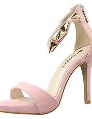 LvYuan-ggx Zapatos de mujer-Tac¨®n Stiletto-Tacones / Punta Abierta-Sandalias-Fiesta y Noche-Terciopelo-Negro / Rosa / Rojo / Plata / Gris / Oro , golden-us7.5 / eu38 / uk5.5 / cn38 , golden-us7.5 / eu38 / uk5.5 / cn38