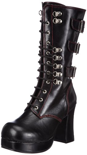 Damen Stiefel, Schwarz (Blk Vegan Leather), EU 36 (UK 3) (US 6) (Gothika-stiefel)