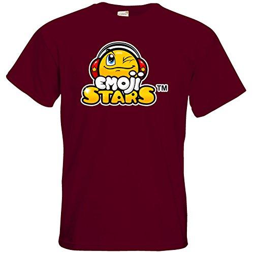 getshirts - b-interaktive Official Merchandise - T-Shirt - Emoji Stars Burgundy