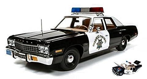 AUTO WORLD AWSS112 DODGE MONACO POLICE PURSUIT (CHIP'S) 1975 1:18 DIE CAST MODEL