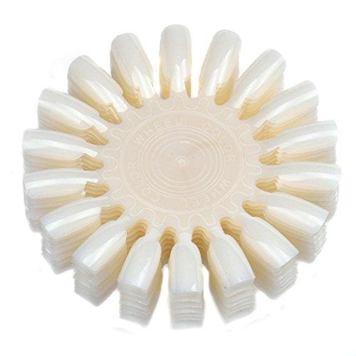 Susenstone 10PCs Maquillage Vernis à Ongles Couleur Carton Couleur Nuancier 18 Affichage, Beige