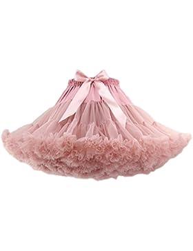 FOLOBE Traje de Tutú de Mujer Danza de Ballet Falda Hinchada de Múltiples Capas Adulto Enagua de Lujo Suave