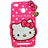 Mi 4i 3D Cute Cartoon Hello Kitty Soft Silicone Gel Back Cover Case For Mi 4i (Hello Kitty Pink) BY MJ CREATION